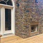 Beautiful outdoor fireplace in Boyce
