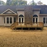 Completed home with back patio in Boyce