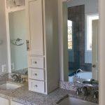 Creative bathroom storage with double vanity in Waterloo
