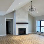 Modern Fireplace and custom lighting