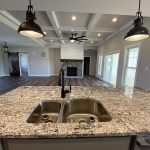 New Custom Home Kitchen and Living Room