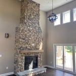 2 Story Stone Fireplace